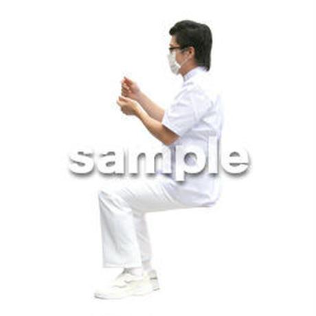 人物切抜き素材 医療・シニア車椅子編 D_020