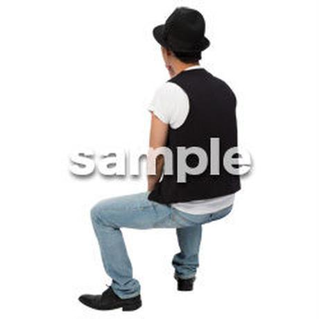 Cutout People 座る 男性 LL_480