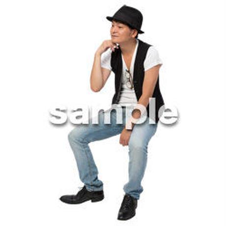 Cutout People 座る 男性 LL_476