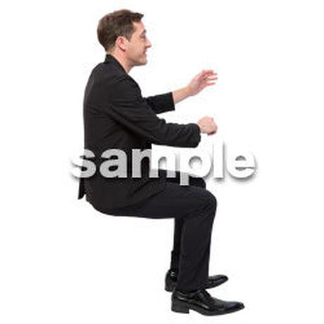 Cutout People 座る 外国人男性 LL_574