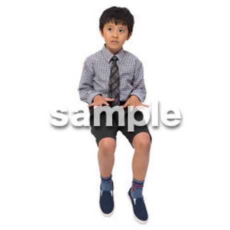 Cutout People 座る 男の子 LL_536