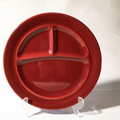 "Vintage 1930's ""METLOX"" California Art Pottery Divided Grill Plate."