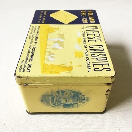 Vintage 1950's Holland Cheese Crispies Tin