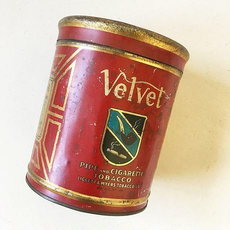 "U.S.A. Vintage ""VELVET"" Pipe and Cigarette Tobacco Tin Can"