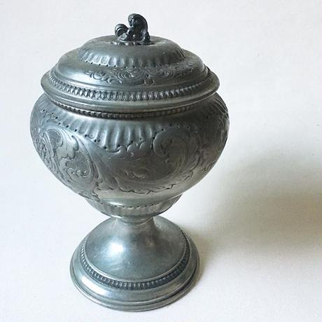 Vintage Peltro(Pewter95%) Candy Pot From Italy