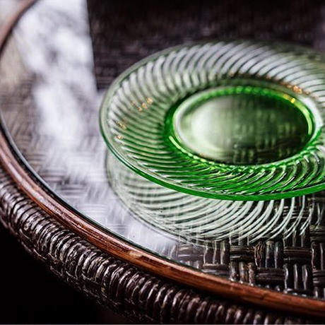 "U.S.A.Vintage ""HOCKING GLASS"" Spiral Green Plate(1928-30)"