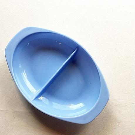 U.S.A. 1960's ''OLD PYREX'' Delphite Divided Dish