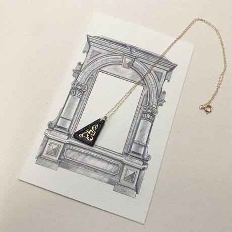 22K Gold刻印レザーネックレス〈アンゴロ:リバーシブル〉