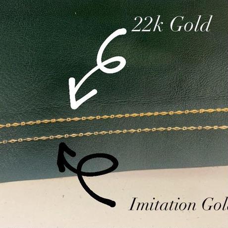 【22k Gold】Jewelry Cap sleeve -ダイヤ柄