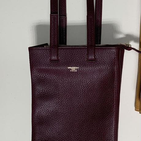 Shopper style Bagワイン紙袋風 》ワインボルドー