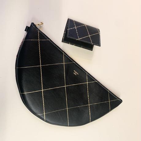 Clutch Intrecchiati 半月クラッチ /幾何学柄