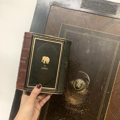 【片面ブックシェルフ】Book shelf clutch bag