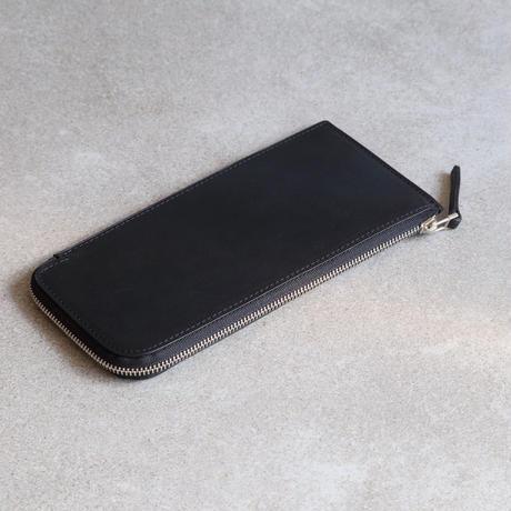 スリムロングウォレット / Oiled Black