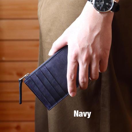 【ブライドルレザー】フラグメントケース/Navy