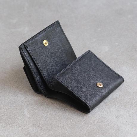 三つ折りウォレット / Black