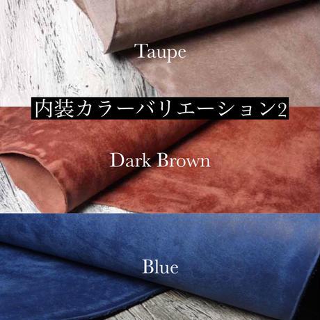 【ブライドルレザー】システム手帳/Black × Brown