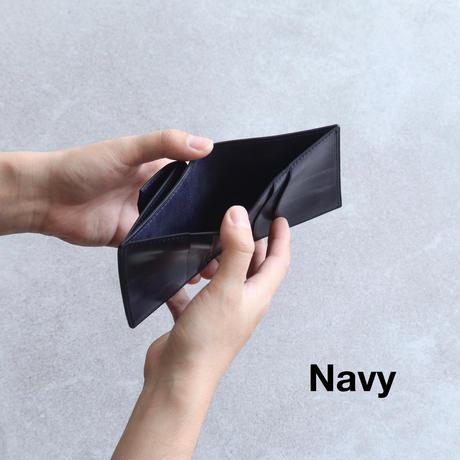 【ブライドルレザー】コンパクトウォレット /  Navy