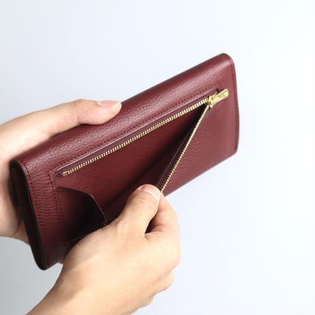 【Sully】フラップ長財布 / ボルドー