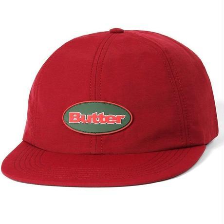 BUTTER GOODS BADGE 6 PANEL CAP-BURGUNDY