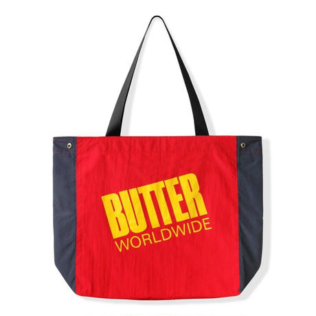 BUTTER GOODS  SAIL TOTE BAG-NAVY / FOREST / RED
