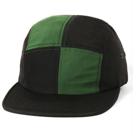 BUTTER GOODS PATCHWORK CAMP CAP- OLIVE / BLACK