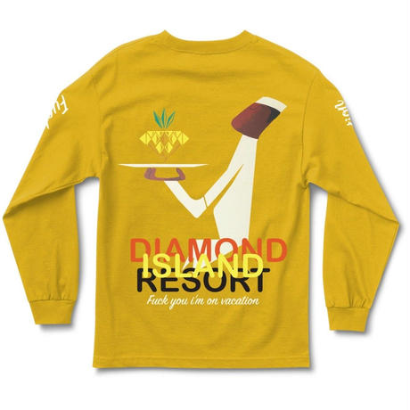 DIAMOND SUPPLY CO RESORT L/S TEE-GOLD
