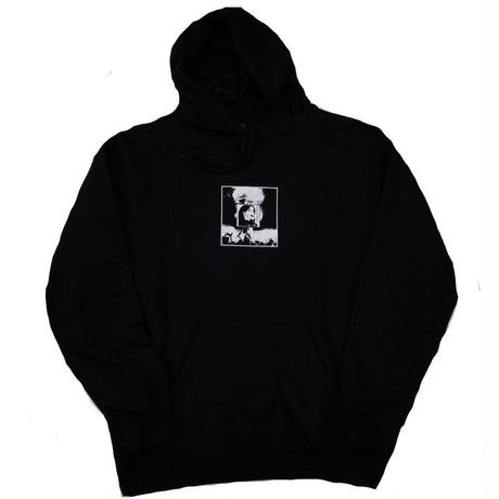 ON OUR OWNWORLD END HOODIE  BLACK