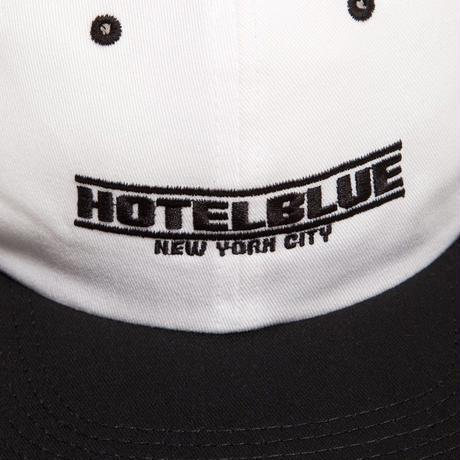 HOTEL BLUE SPEED RACER EMBROIDERED CAP-WHITE/BLACK