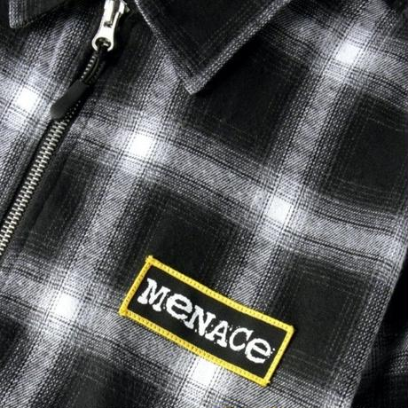 BUTTER GOODS MENACE ZIP THROUGH OVERSHIRT-BLACK