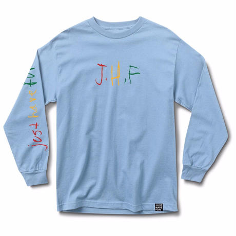 JHF  CHILDFISH    L/S TEE       SKY BLUE