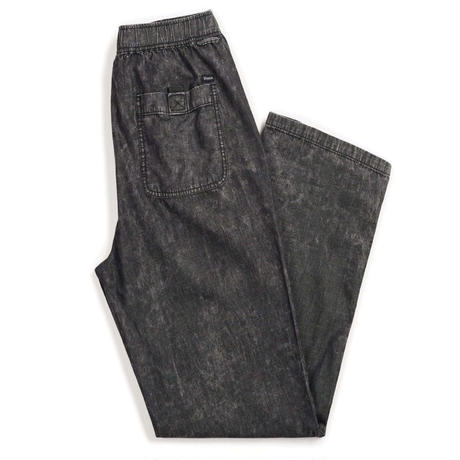 BRIXTON  STEADY  ELASTIC WB PANT-BLACK ACID WASH