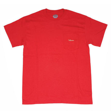 FLOWGRESSIVE TAG POCKET TEE-RED