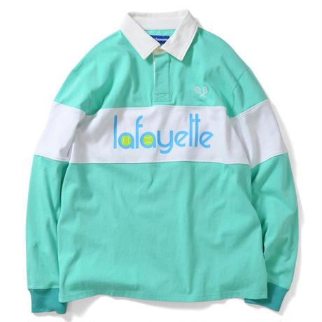 LAFAYETTE TENNIS LOGO L/S GAME SHIRT-CELADON