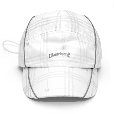 WASTED PARIS GOST TARTAN REFLECTIVE CAP-WHITE