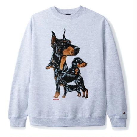 BUTTER GOODS K9 CREWNECK SWEATSHIRT-ASH GREY