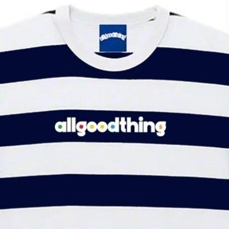 ALLGOODTHINGZ BILLBOARD STRIPE TEE-NAVY
