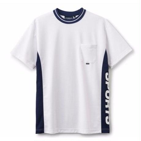 INTERBREED IB SPORTS DIVIDED S/S TEE        WHITE