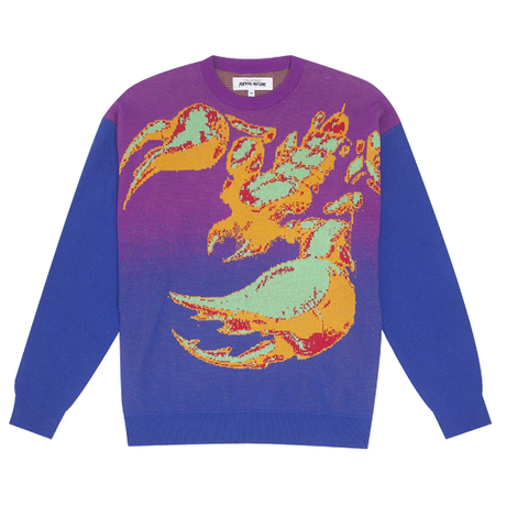 FUCKING AWESOME SCORPION KNIT SWEATER-PUPLE