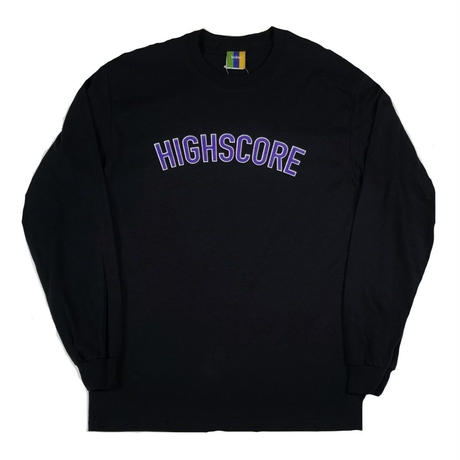 BEDLAM HIGHSCORE L/S TEE-BLACK