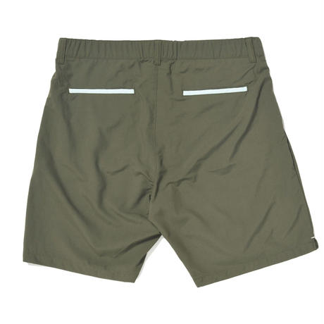 WHIMSY NYLON BOARD SHORTS-OLIVE