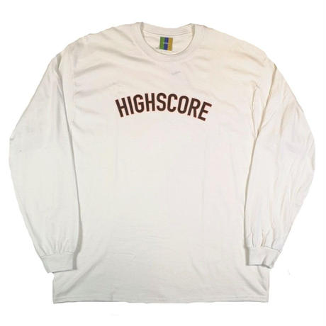 BEDLAM HIGHSCORE L/S TEE-WHITE