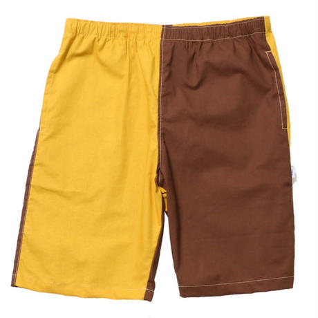 BEDLAM GIMMICKS TROPICAL SHORTS-YELLOW/BURGUNDY