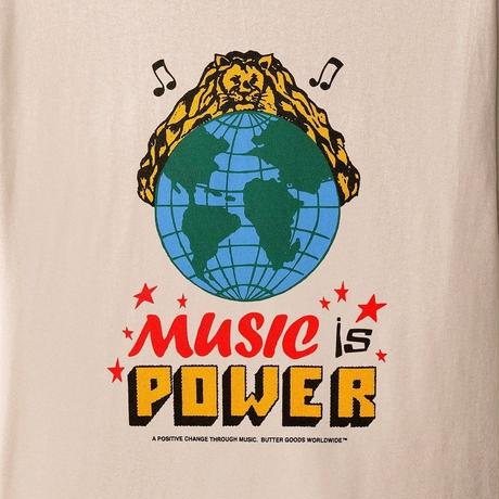 BUTTER GOODS MUSIC IS POWER TEE-SAND