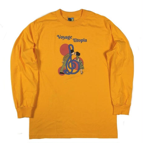 VOYAGE FALLIN' L/S TEE -GOLD