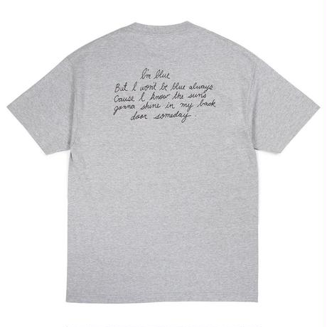 BUTTER GOODS TROUBLE IN MIND TEE    H, GREY