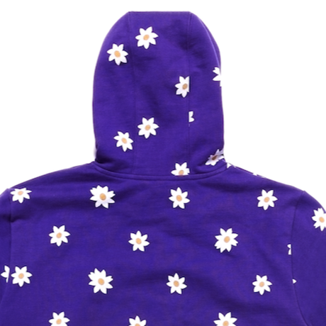 CARROTS XMARKMCNAIRY ALL OVER DAISY WORDMARK HOODIE - PURPLE