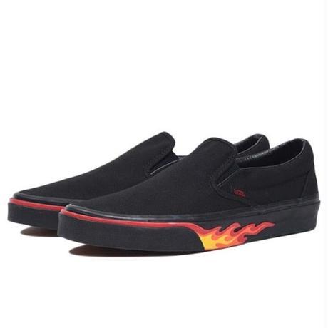 VANS CLASSIC SLIP-ON FLAME WALL    BLACK