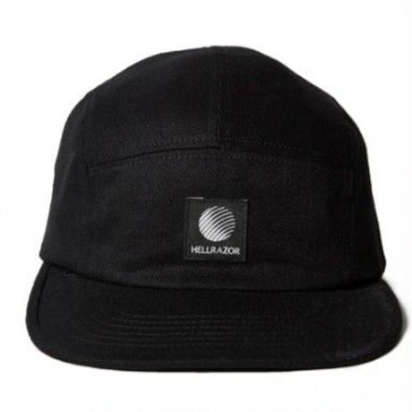 HELLRAZOR LOGO PATCH TWILL CAMP CAP-BLACK