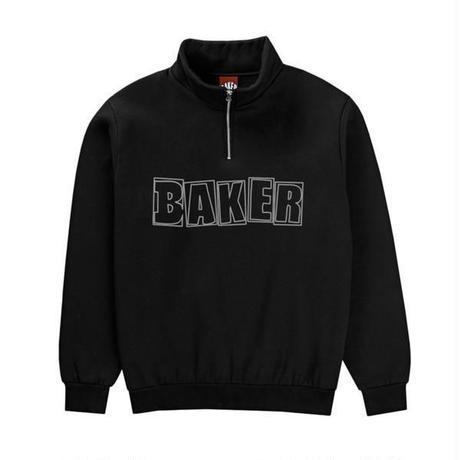 BAKER SKATEBOARDS  CADET QUATER ZIP     BLACK