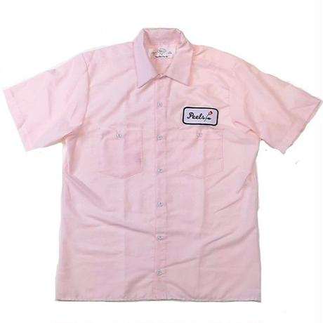 PEELS WORK S/S SHIRT PINK